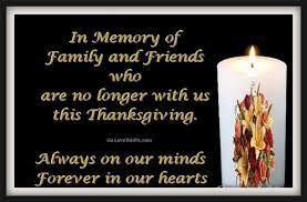 in memory of family and friends on thanksgiving pictures photos