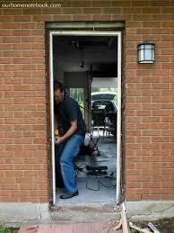 Building An Exterior Door Frame A New Back Door Our Home Notebook