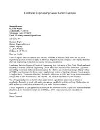 sample cover letter for electrical engineering fresh graduate