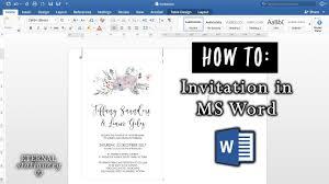 Making Wedding Invitations How To Make An Invitation In Microsoft Word Diy Wedding