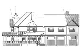 victorian house plans victorian 10 027 associated designs european house plan victorian 10 027 right elevation