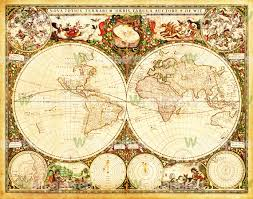 World Map Wallpaper Antique World Map Wall Mural Map Canvas Art