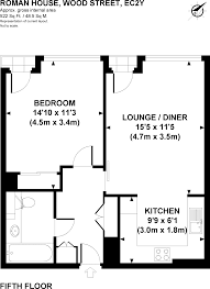 Roman Floor Plan by 1 Bedroom Flat To Rent In Roman House Wood Street London Ec2y