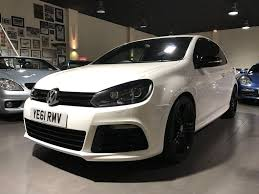 white volkswagen golf used 2011 vw golf r white with black leather sat nav for sale in