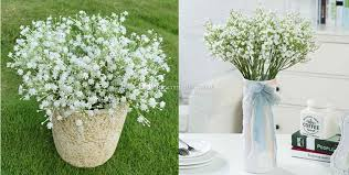 silk baby s breath best gypsophila baby breath silk artificial flower plant for