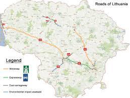 Map Of Lithuania Lt Lithuania Road Infrastructure U2022 Lietuvos Keliai Skyscrapercity