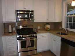 Faux Brick Kitchen Backsplash by Classic Kitchen Area With Red Faux Brick Tile Backsplash Style