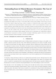 outstanding issues in mineral resource economics the case of indones u2026