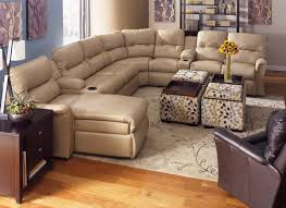 Sectional Sofas With Recliners by Furniture Modern Leather Sectional Sofa With Recliner And Wooden