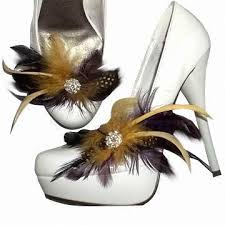 wholesale feather shoe made of pheasant feather fit for shoe
