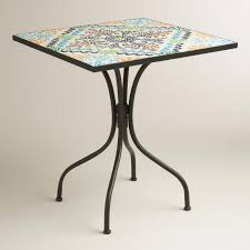 pottery barn bistro table exquisite outdoor bistro table square cadiz world market home