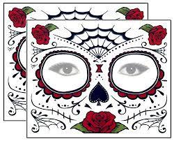 roses day of the dead sugar skull temporary kit pack
