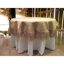 108 tablecloth on 60 table natural burlap tablecloth 60 round with fringe 108 inch round burlap