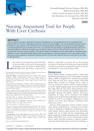 nursing assessment tool for people with liver cirrhosis pdf
