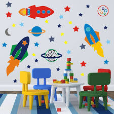space rockets wall stickers space rocket wall sticker and spaces space rockets wall stickers