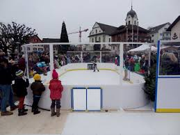 synthetic ice rink glice mini arena for fec