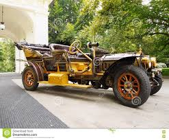 prague car historic luxury vintage car retro vehicle editorial photo