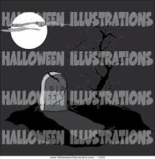 graveyard clipart clip art of a full moon casting light on a cracking tombstone and