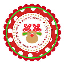 christmas stickers polka dot reindeer personalized stickers christmas address