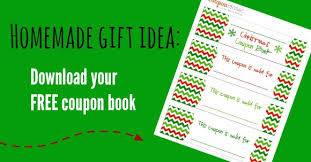 free christmas coupon book printable homemade gift idea coupon