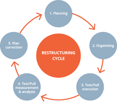 the process of organisational restructuring for large corporations