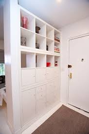 Using 2 Ikea Expedit Bookcases by 10 Ideas For Dividing Small Spaces Jay Shelves And Storage