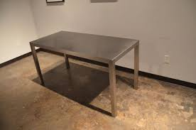 Custom Made Seamless Stainless Steel Dining Table By Sarabi Studio - Stainless steel kitchen tables