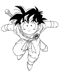 dragon ball goten coloring u0026 coloring pages