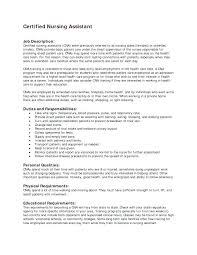 cna resume template cna resume sle lovely description for stunning nursing assistant