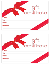 gift certificate template clipart
