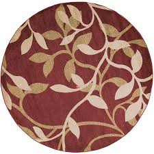 Round Throw Rugs by Shop Surya Riley Round Indoor Machine Made Nature Area Rug Actual