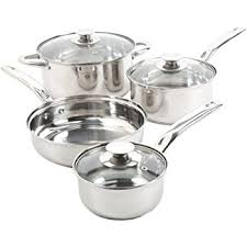 Silver Items Amazon Com Sunbeam Ansonville 7 Piece Cookware Set Silver