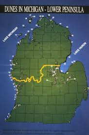 A Map Of Michigan by Dunes