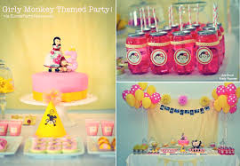 thanksgiving point birthday party kara u0027s party ideas girly monkey pink yellow banana 3rd birthday