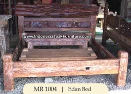 wooden bed from java
