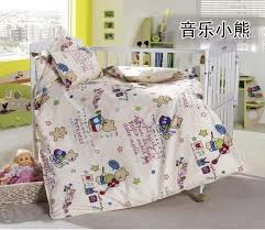 promotion 3pcs kitty mickey baby bedding set bebe jogo de cama