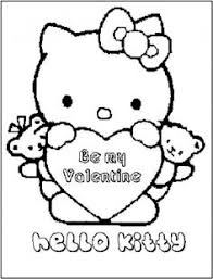 valentine kitty free coloring pages art coloring pages