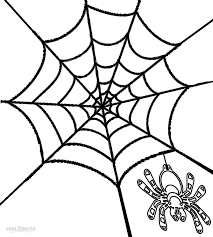 spider and spider web coloring page in halloween spider coloring