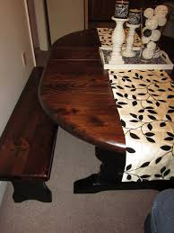 Refinished Kitchen Table Remodelaholic Refinished Kitchen Table With Paint And Stain
