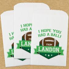 paper favor bags personalized paper favor bags football