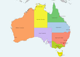 map of australia and oceania countries and capitals australia map with states and capital cities thefoodtourist inside