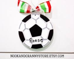 soccer ornaments to personalize soccer ornament personalized christmas ornament