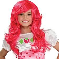halloween y14 goodie bag strawberry shortcake pink wig fancy dress halloween costume
