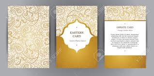 vintage cards vector set of ornate vertical vintage cards outline golden decor