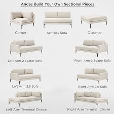 Build Your Sofa Build Your Own Andes Sectional Pieces West Elm