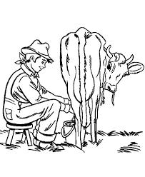 milking farming activity coloring pages color luna