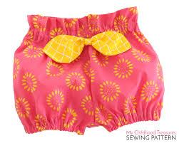 paper bag toddler shorts pattern baby bloomer pattern pdf high waisted bloomer pattern