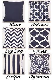 Navy Blue Decorative Pillows Throw Pillow Cover Pillow Covers Navy White Grey Accent Pillows