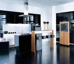 Laminate Kitchen Designs Black High Gloss Kitchen Cabinet Db Kitchen Com