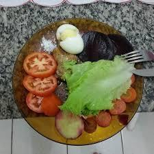 comi de cuisine jantar repeteco do almoço como sempre haha só acrescentei tomate e